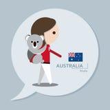 Reisinzameling - Australië Royalty-vrije Illustratie