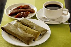 Reiskuchenfrühstück Lizenzfreie Stockbilder