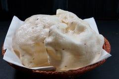 Reismehl Cracker oder Papadom lizenzfreies stockfoto