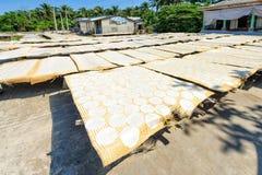 Reispapiertrockner in Vietnam Lizenzfreies Stockbild