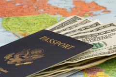 Reisplannen Royalty-vrije Stock Fotografie
