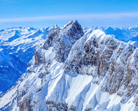 Reissend Nollen, vista dal Mt Titlis Fotografie Stock Libere da Diritti