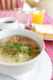 Reissuppe mit Schweinefleisch Lizenzfreies Stockfoto