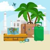 Reistaskoffer voor reis of roeping vector illustratie