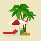 Reistaskoffer voor reis of roeping, de bagagereis van het toerismepictogram, vectorillustratie De toerist van de zomerroepingen stock illustratie