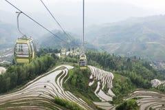 Reisterrassen bei Longsheng, China Stockfotografie