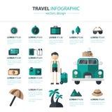 Reisvoorbereiding Infographics Royalty-vrije Stock Fotografie