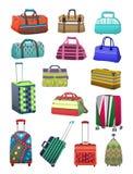 Reiszakken en koffers Stock Fotografie