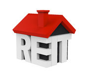 REIT House Icon. Isolated on white background. 3D render Stock Images