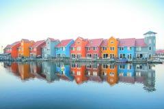 Reitdiephaven Groningen Stockfoto