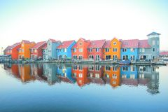 Reitdiephaven Groningue Photo stock