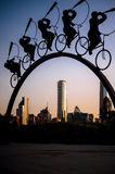 Reiten über die Stadt Lizenzfreie Stockfotos