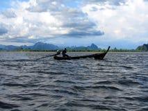 Reiten des Mekong Stockbild