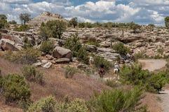 Reiten durch Colorado-Schlucht-Land lizenzfreie stockbilder