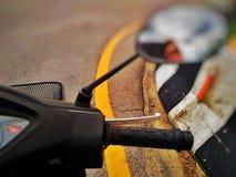 Reiten Sie ein Motorrad Stockbild