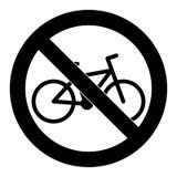 Reiten Sie nicht Fahrradsymbol-Zeichenausweis vektor abbildung