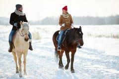 Reiter auf einem Pferd Lizenzfreie Stockfotografie