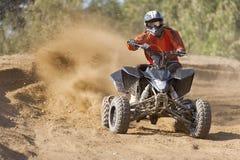 Reiter Quadbike ATV Stockfotografie