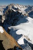 Reiter von Mont Blanc Stockfoto