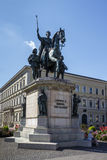 Reiterdenkmal monument of Ludwig I of Bavaria at Odeonsplatz in Royalty Free Stock Images