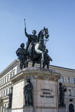 Reiterdenkmal monument of Ludwig I of Bavaria at Odeonsplatz in Royalty Free Stock Photos