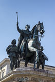 Reiterdenkmal monument of Ludwig I of Bavaria at Odeonsplatz in Royalty Free Stock Image