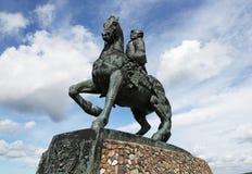 Reitermonument zur russischen Kaiserin Elizabeth Petrovna, b Stockfoto