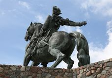 Reitermonument zur russischen Kaiserin Elizabeth Petrovna, b Stockfotografie