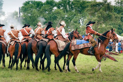 Reiters on horses at Kluszyn 1610 Stock Photos