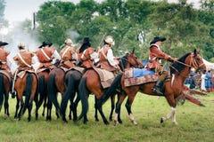 Reiters op paarden in Kluszyn 1610 Stock Foto's
