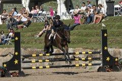 Reitershow-Springen Stockfotografie