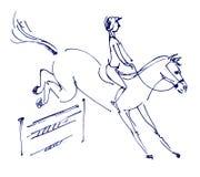 Reitersport - zeigen Sie das Springen Lizenzfreie Stockfotografie