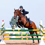 Reitersportwettbewerbe. Stockfoto