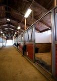 Reiterstall Stall-Mittel- Weg-Pferd-Paddack Lizenzfreies Stockfoto