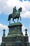 Reiterstatue des Königs John in Dresden, Deutschland Stockfotos