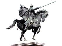 Reiterstatue mit Ausschnitts-Pfad Lizenzfreie Stockfotografie