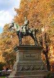 Reiterstatue von G Garibaldi im Bologna Italien stockfotografie
