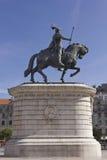 Reiterstatue von König Johannes I. Stockfotos