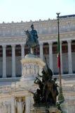 Reiterstatue von König Vittorio Emanuele II Lizenzfreie Stockfotos