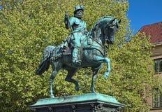 Reiterstatue von William I, Prinz der Orange in Den Haag, die Niederlande stockbild