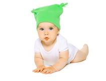 Reizend Baby im Hut Lizenzfreies Stockfoto