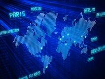 Reizend concept wereldwijd. Stock Afbeelding