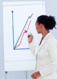 Reizend Geschäftsfrau, die eine Darstellung gibt Stockbilder