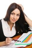 Reizend junge Geschäftsfrau Lizenzfreie Stockbilder