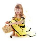 Reizend kleines Mädchen stockbilder