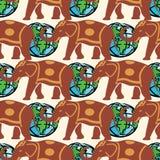Reizend patroon kleurrijke naadloze grafische achtergrond Vector Illustratie