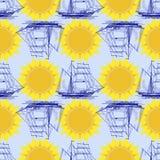 Reizend patroon kleurrijke naadloze grafische achtergrond Royalty-vrije Illustratie