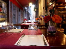 Reizend Restaurant in Venedig Stockbilder