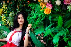 Reizend Schönheit des Porträts Attraktives schönes Mädchenklo lizenzfreies stockfoto