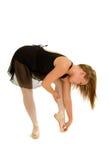 Reizende Ballerina, die für Klasse aufwärmt Lizenzfreies Stockbild